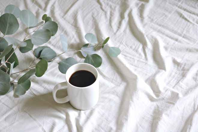 ceramic mug with coffee