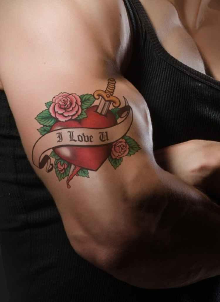 man red arm love